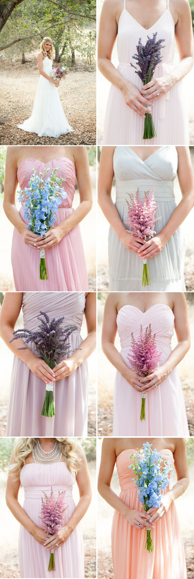 Mix-matched Bridesmaid Bouquets