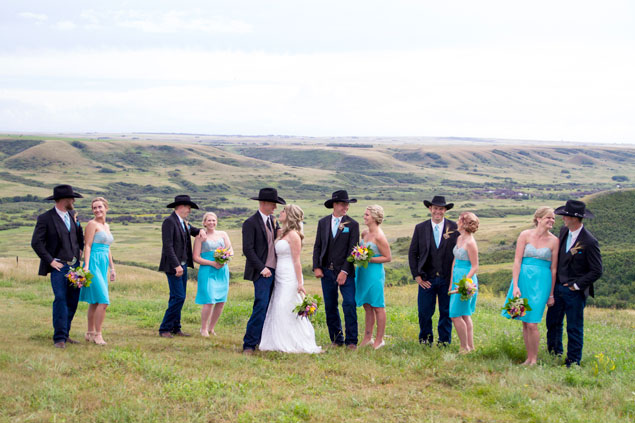 Country Wedding Party Photo
