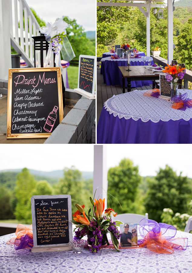 Purple and Orange Wedding Colors