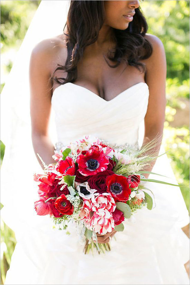 Red Wedding Bouquets