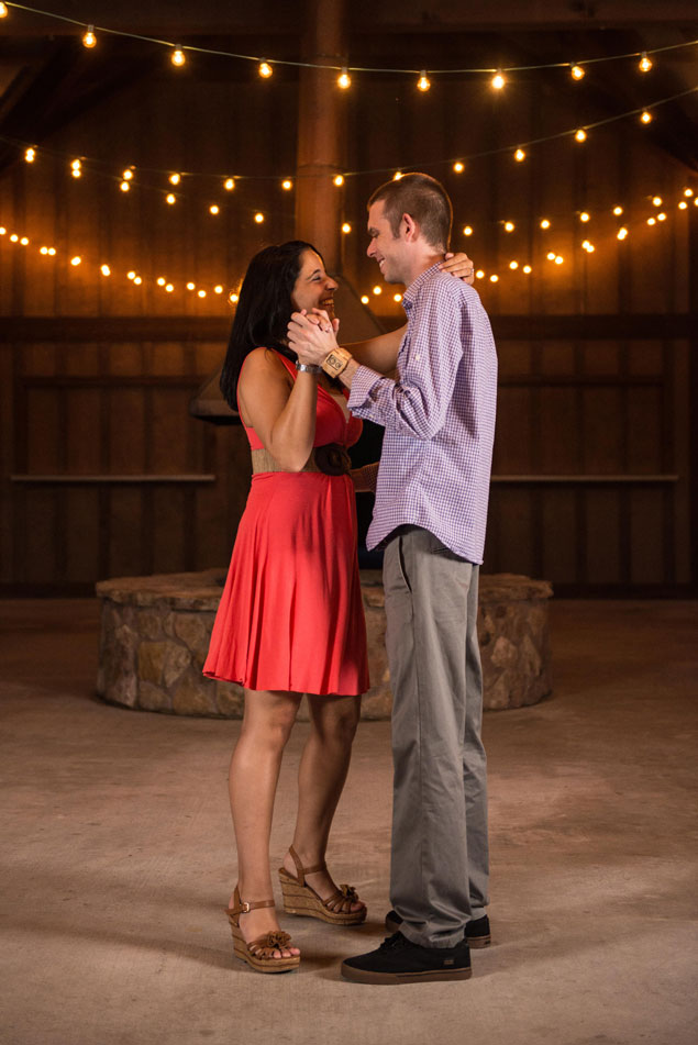 Night Engagement Photography