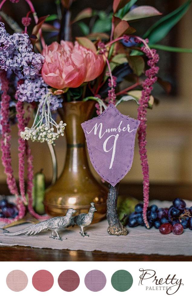 Pink & Purple Wedding Colors