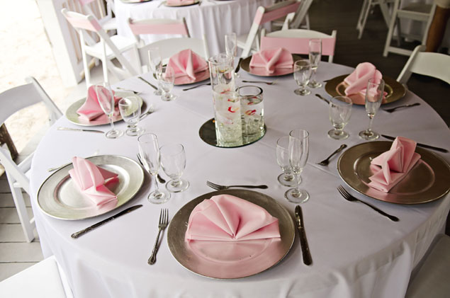 Pink Wedding Place Settings