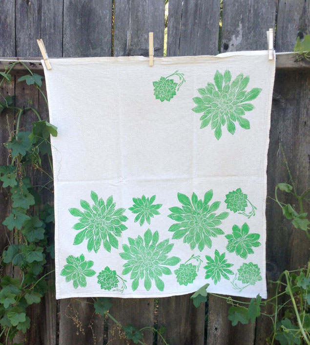 Succulent Print Tea Towels