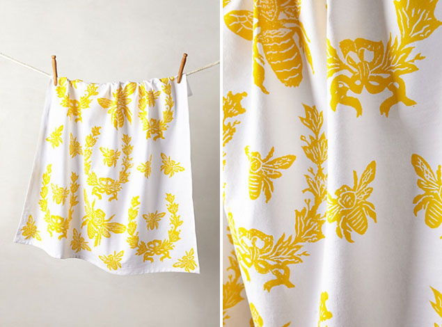 Yellow Tea Towels