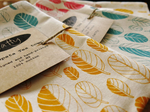 Leaf Print Tea Towels