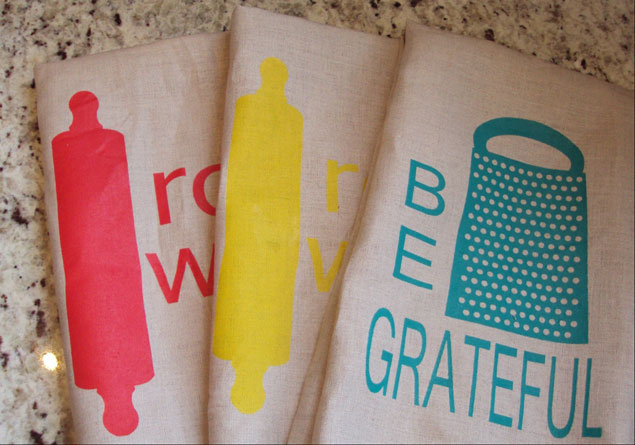 Be Grateful Tea Towels