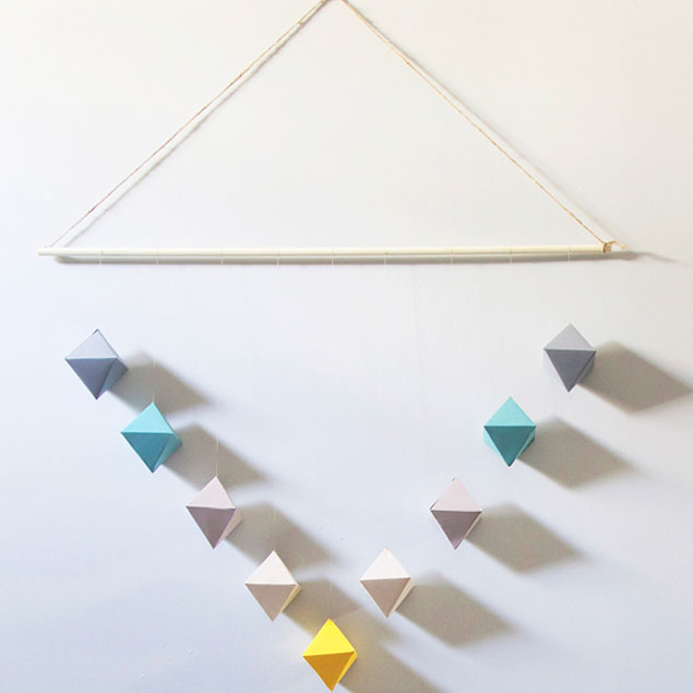 DIY Geometric Wall Hanging