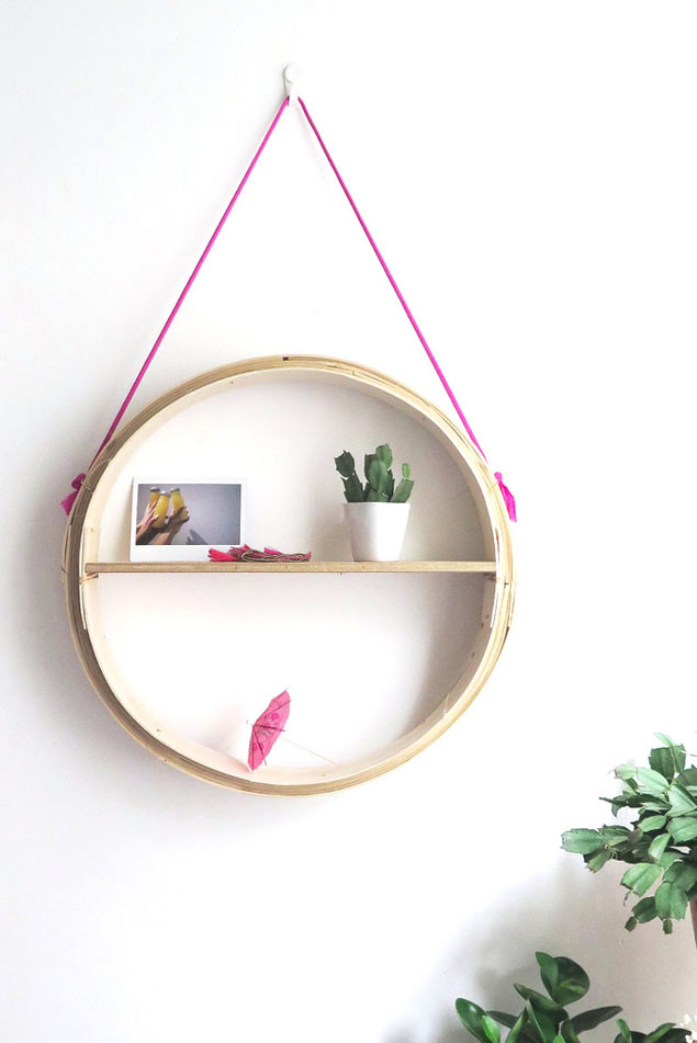 DIY Round Shelf