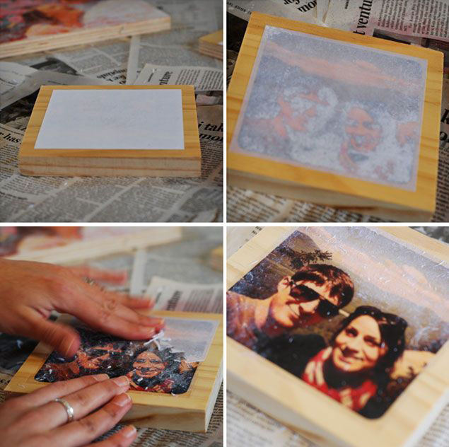 DIY Photo Transfer on Wood