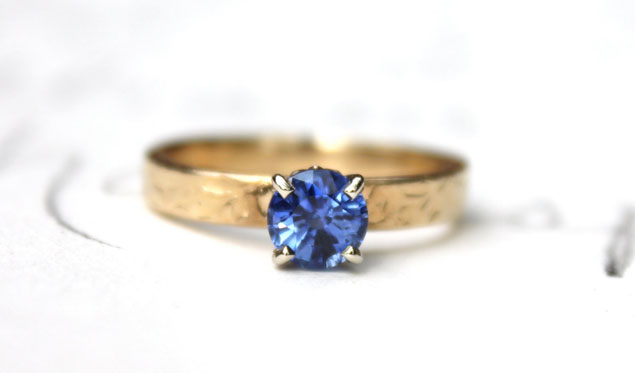 Etsy Sapphire Engagement Rings
