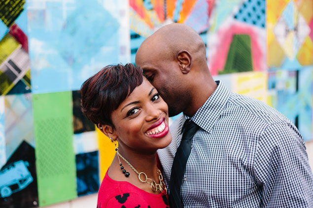 Colorful Engagement Backdrop