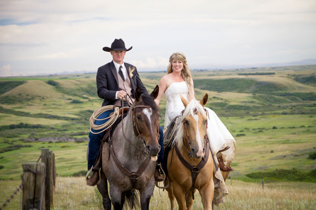 Country Wedding with Horses