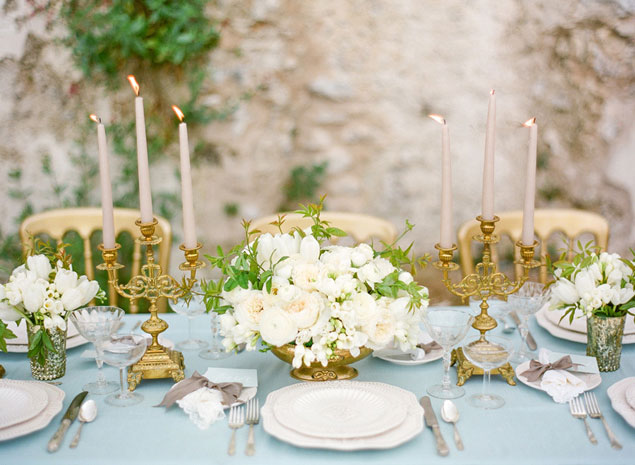 Blue & Gold Tablescape