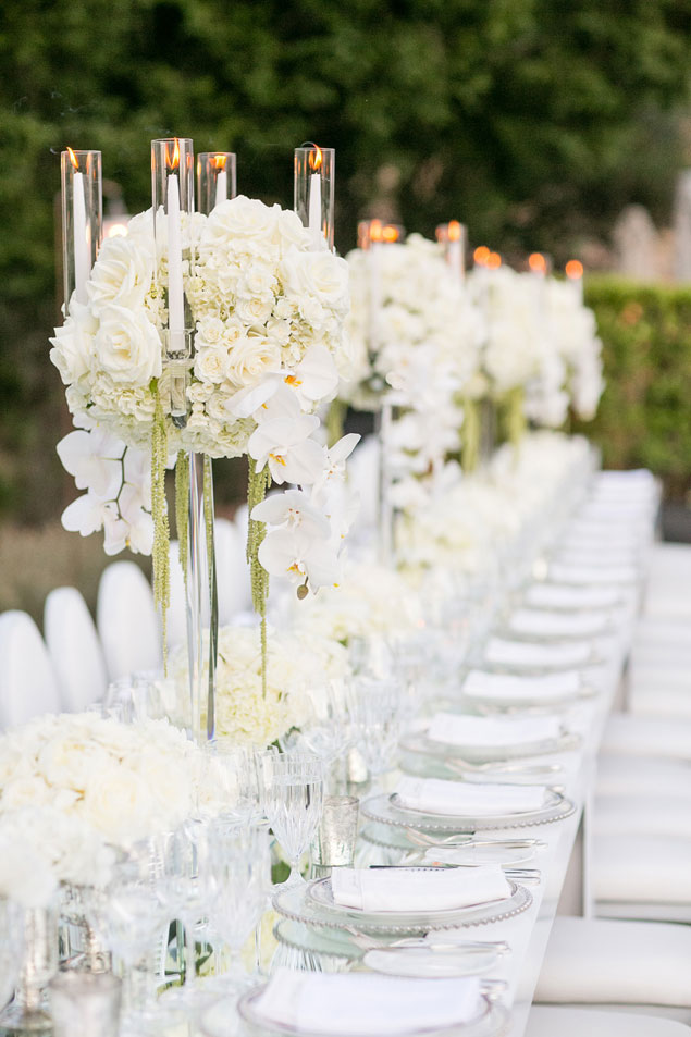 White Wedding Tablescape