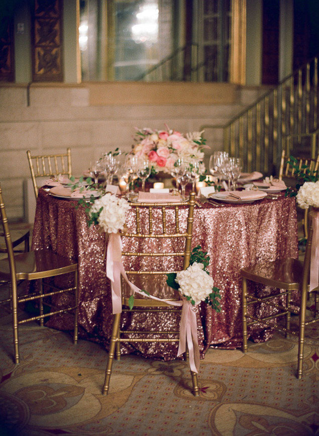 Glitter Wedding Table Cloth