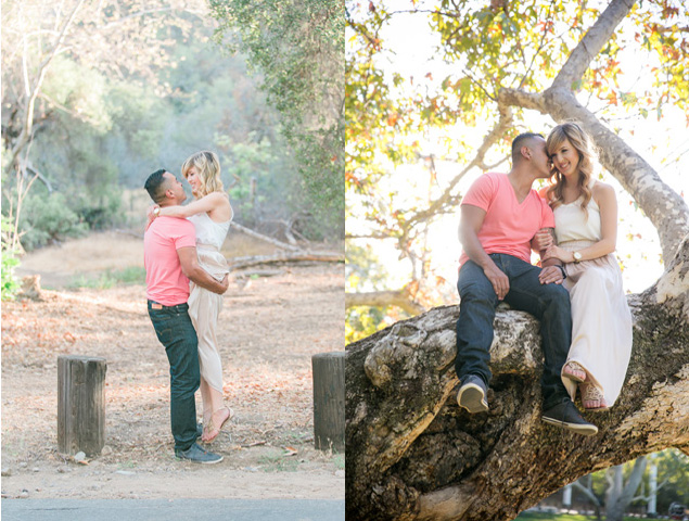 Romantic engagement shoot