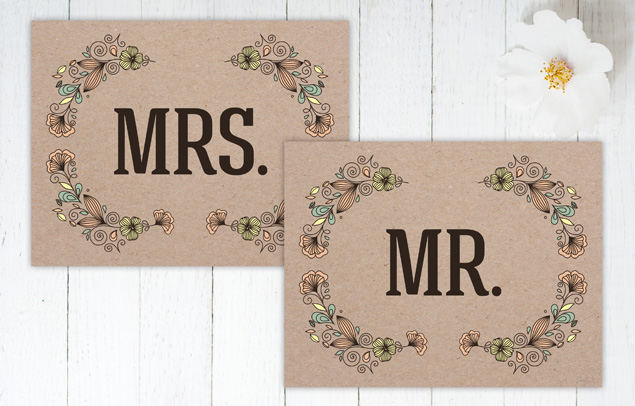 Hoopla House Creative - Rustic Revival Mr. & Mrs. Sign