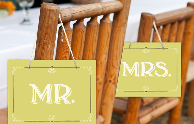 Hoopla House Creative - Southern Belle Mr. & Mrs. Chair Signs