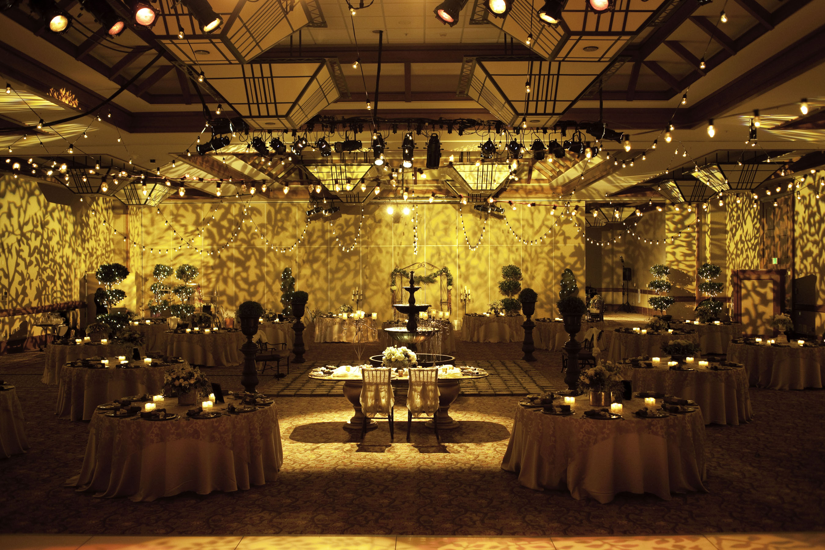 wedding venue: indoor garden decor