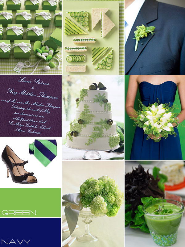 navy and lime green wedding cakes wedding navy wedding colors amp accents 17742