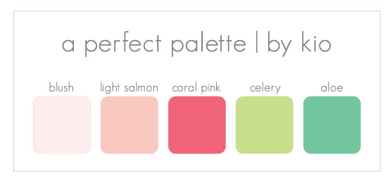 A Perfect Palette Peaches Pinks Greens