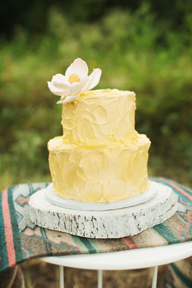 Yellow Swirl Wedding Cake Designed By Michelle S Patisserie Photo Source Ee Photographypin It