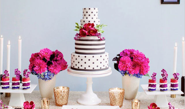 wedding cake with dots polka dot wedding cakes wedloft 26869